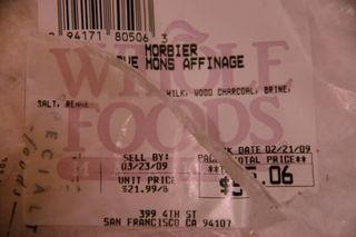 Queijo Morbier, 22 dolares a libra